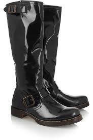 shoeniverse frye black veronica patent leather boots
