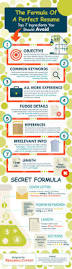 Perfect Job Resume by The Formula Of A Perfect Resume Infographic Career Resume Job