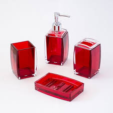 Red Bathroom Accessories Sets by Justnile Bathroom Accessories