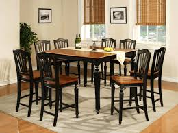 high top dining room table with bench high bench dining table