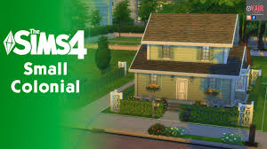 the sims 4 house building small colonial youtube