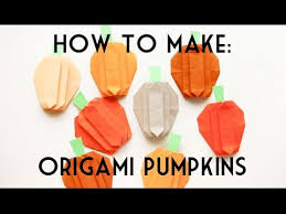 origami pumpkin for or thanksgiving decoration