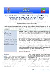 human pulp response to direct pulp capping and miniature pulpotomy