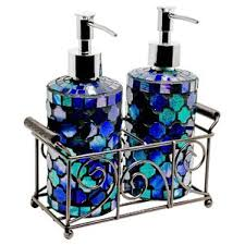 bathroom appealing blue glass bathroom accessories frosted 3