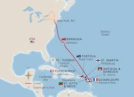 map usa bermuda new york bermuda west indies new york to san juan viking