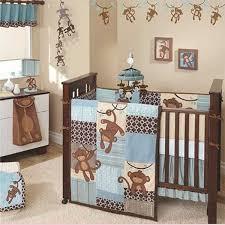 Baby Boy Monkey Crib Bedding Sets Monkey Theme Nursery For Boys Baby Bedding Sets Pinterest