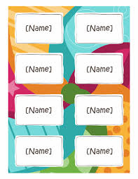 word name tag template name badges bright design 8 per page works with avery 5395 and