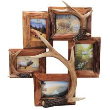 Deer Hunting Home Decor by Features 5 Photo Picture Frame Genuine Firwood Frame With