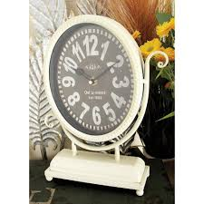 Pewter Mantle Clock Home Decorators Collection 11 In X 6 In Hanging Desk Clock