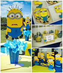 minions party supplies despicable me minion themed birthday party via kara s party ideas
