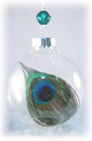 peacock feather in glass ornament peacock feather ornament