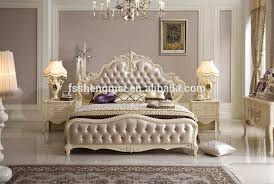 2015 royal luxury design home furniture solid wood king