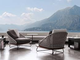 Garden Armchairs Upholstered Garden Armchair Rivera Collection By Minotti Design