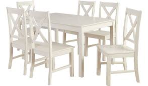 George Home Gilmore Extending Dining Table And  Chairs Cream - Cream kitchen table