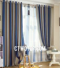 Silver And Blue Curtains Custom Made Two Panels Modern And Chic Curtains