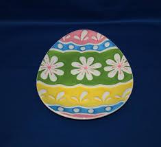 ceramic egg dish vintage easter egg shaped ceramic dessert or gift plate small