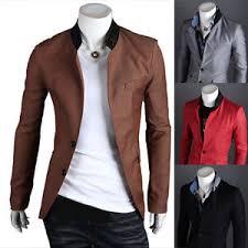 casual blazer mens stylish slim fit two button stylish business casual blazer