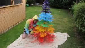 how to make a rainbow christmas tree youtube