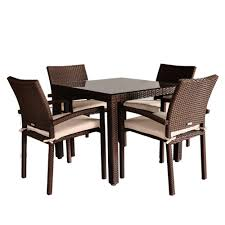 amazon com atlantic liberty 5 piece dining set garden u0026 outdoor