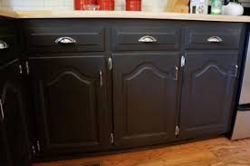 Black Cabinet Kitchen Darker Refinishing Oak Kitchen Cabinets With Steel Handle Door And