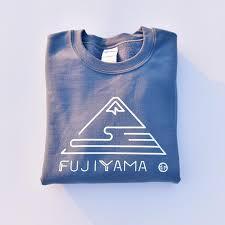 fujiyama indigo blue sweatshirt japan travel planet