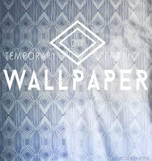 diy temporary fabric wallpaper u2022 vintage revivals