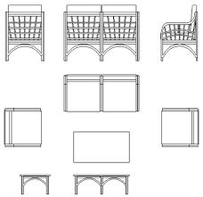 divanetti dwg tavoli giardino dwg 2d