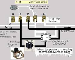how to wire intermatic t104 and t103 and t101 timers