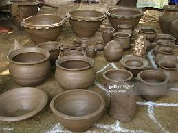 handmade clay pots for sale stock photo getty images