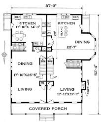 Multi Family Home Floor Plans Two Family Narrow Lot 4285 3 Bedrooms And 1 Bath The House