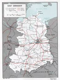 Germany Political Map large political and administrative map of east germany with roads