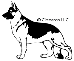 belgian shepherd silhouette dog breed decals sihouettes cimmaron dog art canine art