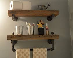Barnwood Bookshelves by Bathroom Shelves Etsy