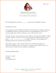 5 letter of intent to lease template adjustment letter