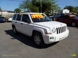 jeep patriot white 2008 jeep patriot sport in stone white clearcoat 761245 jax