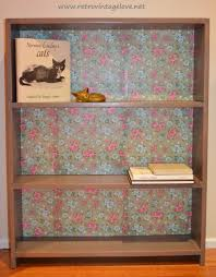 Shabby Chic Bookshelves by Retro Vintage Love How To Decoupage Tutorial A Shabby Chic Bookshelf