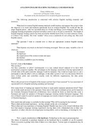 College Application Recommendation Letter Sample Aviation English Teaching Materials And Resources Aviation