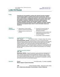 sle resume for teachers sle preschool resume resume sle resume for