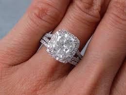 Diamond Wedding Ring Sets by 3 69 Ctw Cushion Cut Diamond Wedding Ring Set H Si3 Includes A