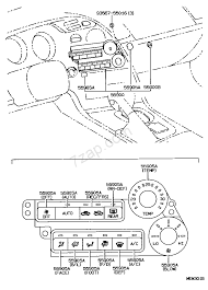 toyota supra drawing heating u0026 air conditioning control u0026 air duct illust no 1 of 3