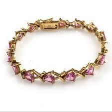 silver gold bracelet images 925 sterling silver gold plated topaz bracelet poshmark jpg