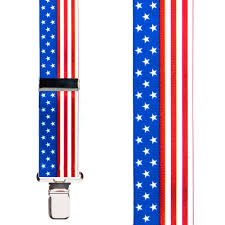 Flag 48 Stars Stars U0026 Stripes Suspenders 1 5 Inch Wide Clip Suspenderstore