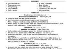Truck Driving Resume Examples by Marvellous Truck Driver Resume 2 Unforgettable Truck Driver Resume