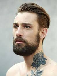 beauty beard with slicked back hair haircut pinterest haircuts