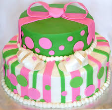 a sweet cake bow