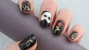 phantom of the opera nail art design halloween nails youtube