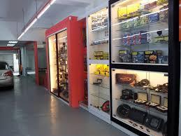 simple interior design for car accessories shop decorating idea