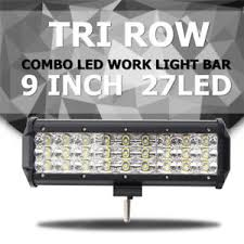 led security light bar 9 inch 135w led work light bar spot flood combo truck boat driving
