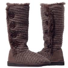 womens knit boots muk luks malena s crotchet knit sweater winter boots 10