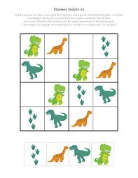 dinosaur sudoku puzzles free printables gift curiosity